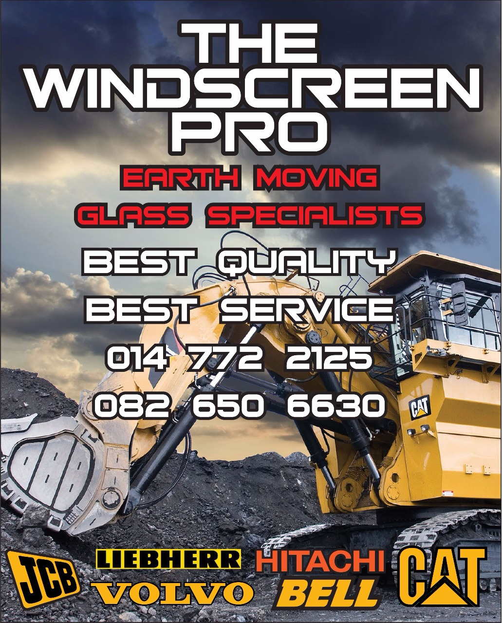 Earthmoving Glass Specialists – The Windscreen PROfessionals